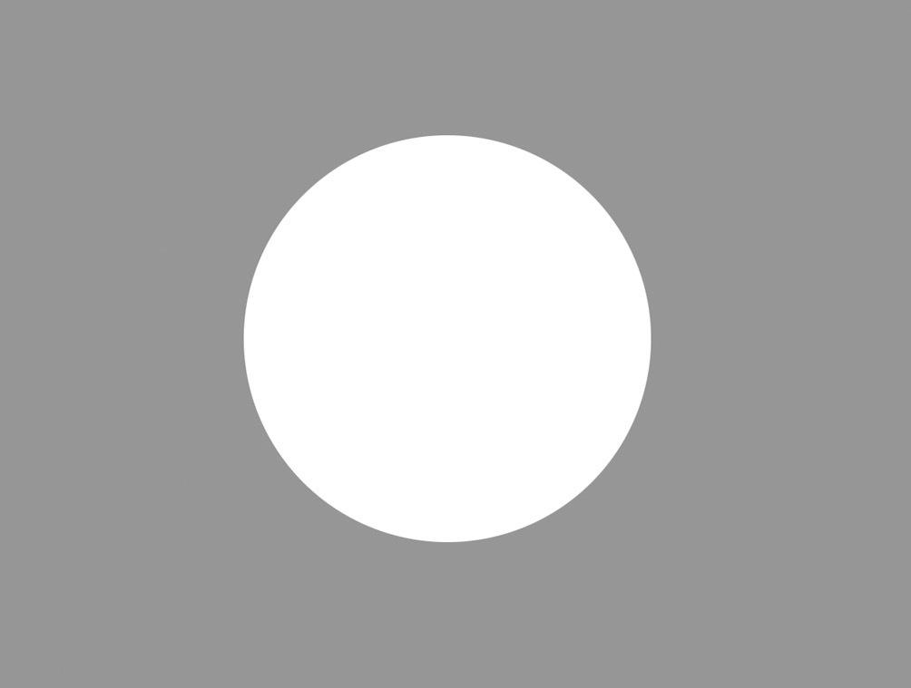 Рис. 4а. Четко очерченный белый круг выглядит крупнее, чем очерченный нечетко.
