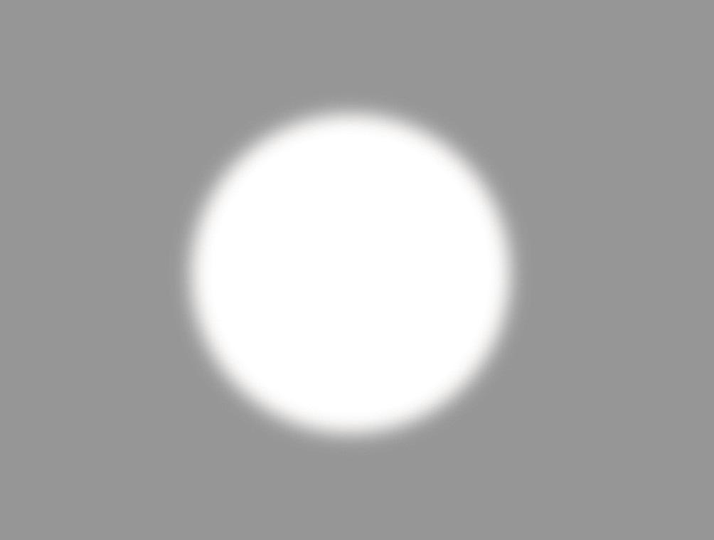 Рис. 4б. Нечетко очерченный белый круг выглядит меньше, чем очерченный четко.