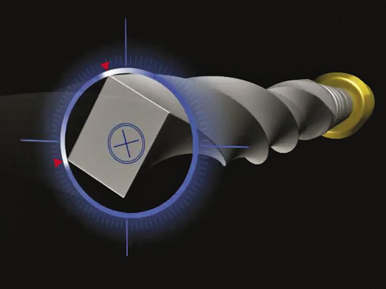 Рис. 1. Поперечное сечение инструмента Pro Taper Next. Обратите внимание на смещенную от центра массу инструмента, что позволяет снизить степень его вкручивания в канал, обеспечить большее пространство для опилок и улучшить гибкость.