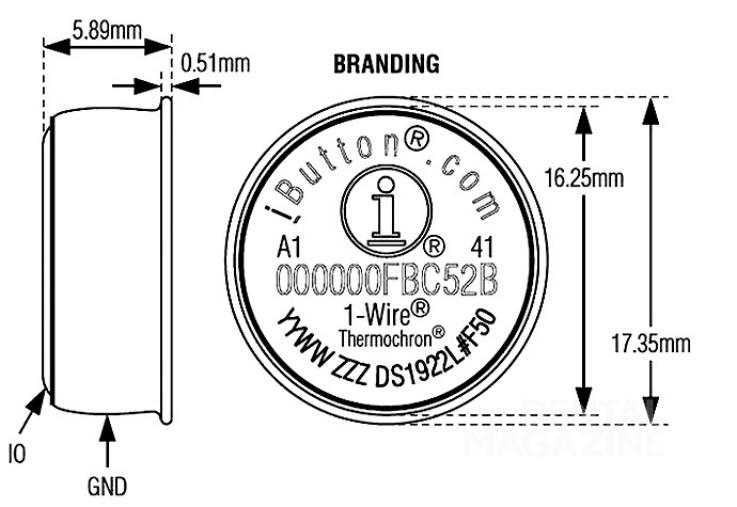 Рис. 1. Терморегистратор (размеры приведены в мм).