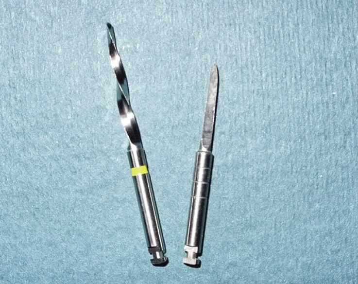 Рис. 3. Калибровочный дриль по сравнению с разверткой.
