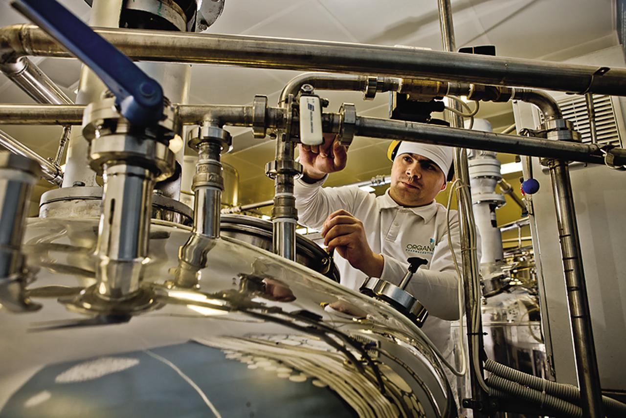 В 2012 году Organic Pharmaceuticals прошло аудит на соответствие ISO 14001, часто называемым «экологически осознанным управлением предприятием». Сознательность эта проявляется на всех этапах работы начиная со строительства до поддержки программы CO2-нейтрального производства и утилизации отходов.