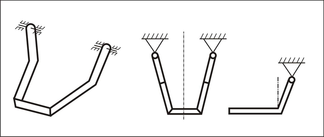 Рис. 1. Схематизация НЧ в виде пространственной рамы.