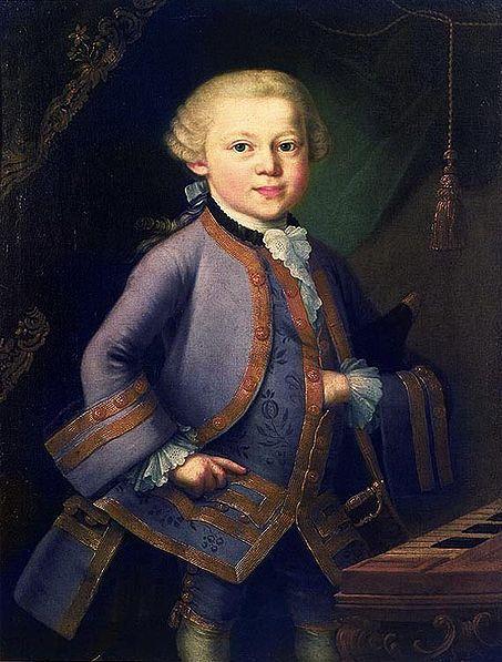 Рис. 1. Вольфганг Амадей Моцарт.